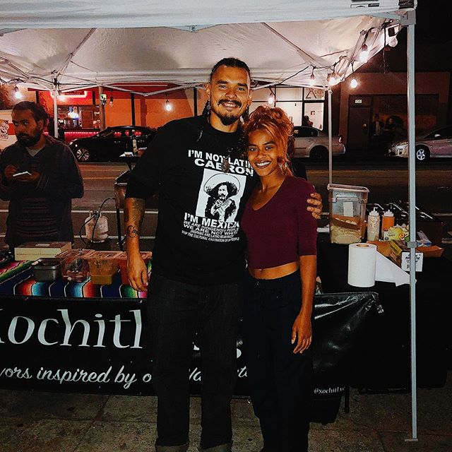 Love & gratitude to @xochitl.vegan for the plant based love 🌱✨ quality plant based/vegan food straight from their Nahuatl roots. Love brother @khalifwarrior for the blessing 🦋