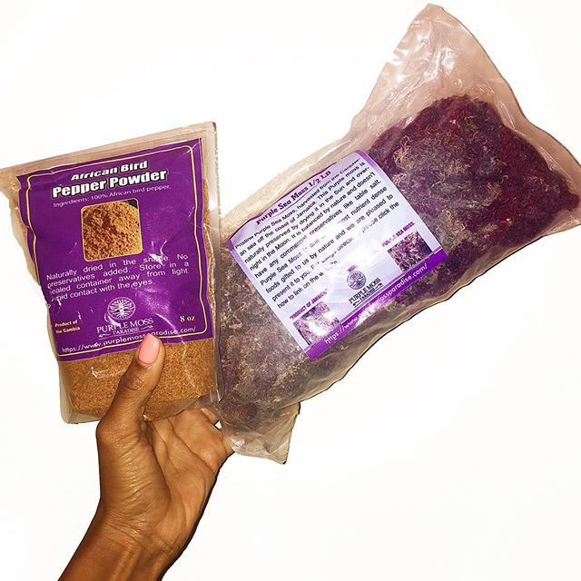 Awakening Hvn on Erth's dishes with @purplemossparadise 's Purple Sea Moss & African Bird Pepper. In the kitchen whipping up plant based gumbo, curries, & stews with these two necessities.