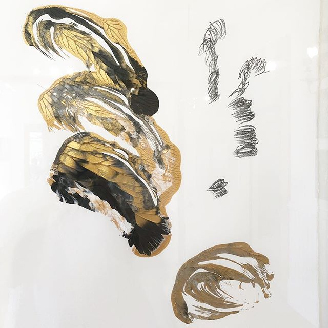If you missed the opening last Friday, stop in to see ALISON WELD: INNER ESSENTIALS today 11-5pm. Image: ALISON WELD, Masked Fossil #2, Pulled Paint Series, 2008, acrylic, pencil on paper, 30 x 22""