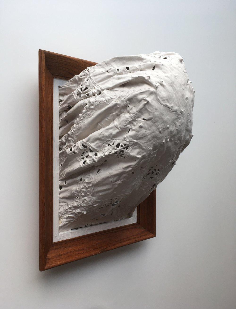 "Kevin Donegan, Thrust, 2019, Found Objects, Latex, 17x13x10"""