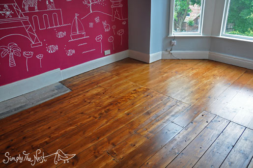 Victorian wooden floor renovation using Osmo Polyx Oil in Amber 3072 - by Simply The Nest,m a UK renovation blog