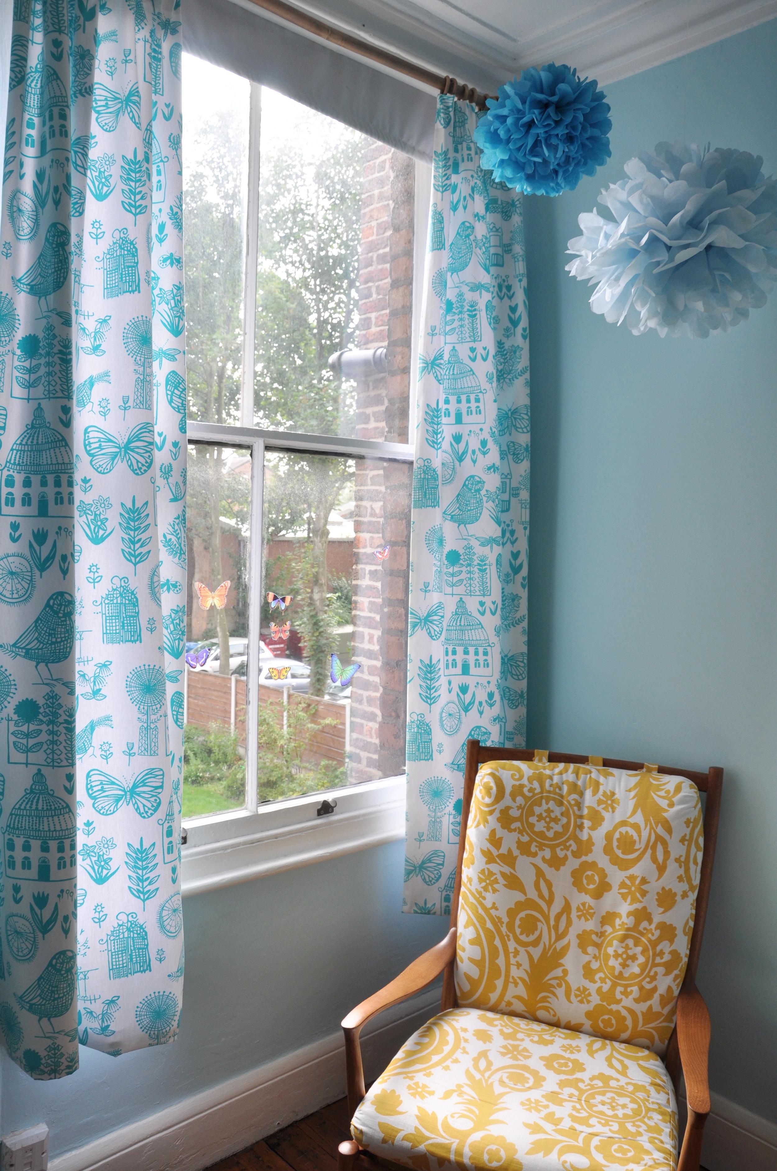 Nataliau0027s Turquoise Bedroom Curtains