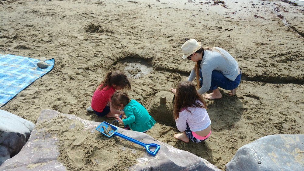 A spot of sandcastle and moat building.