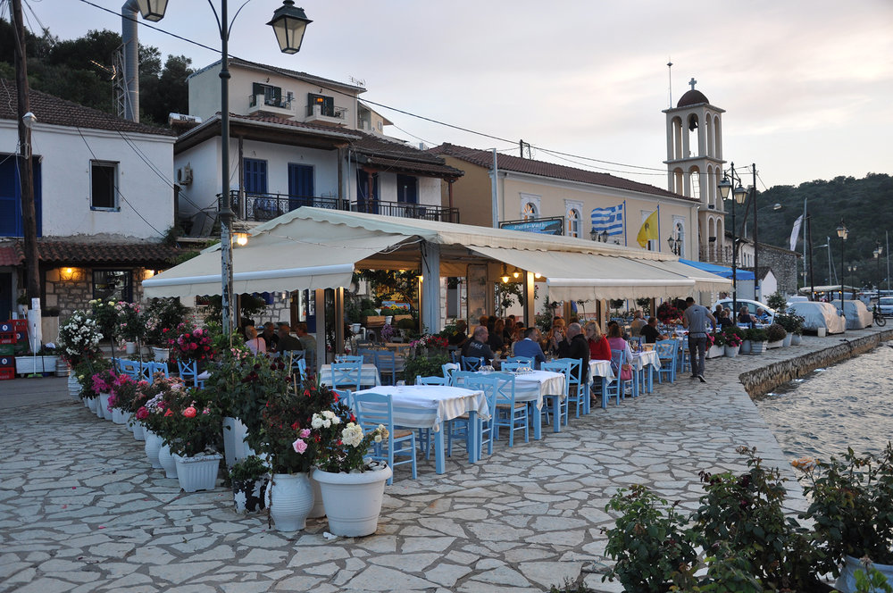 Errikos restaurant on the harbour-front in Vathi.
