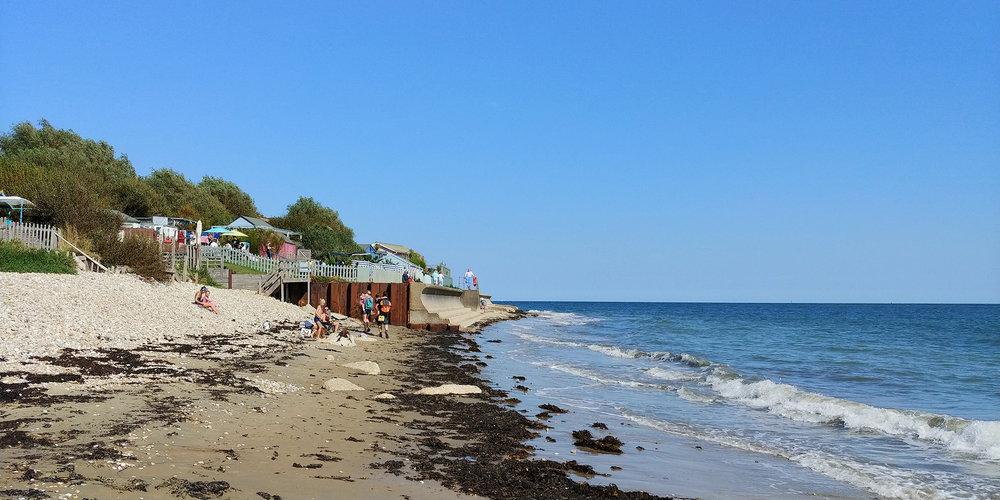 The Beach Hut cafe at stunning Forelands beach.