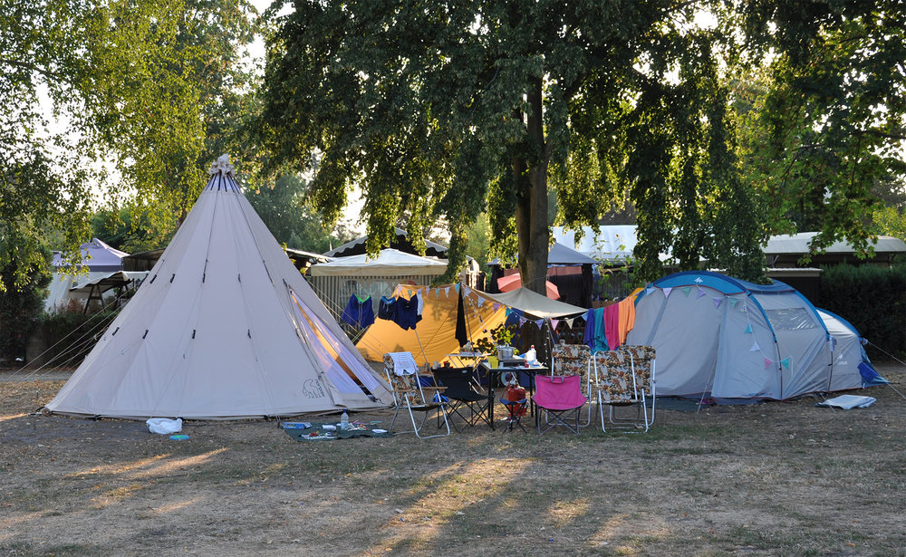 Our friends have a teepee tent, isn't it fab?