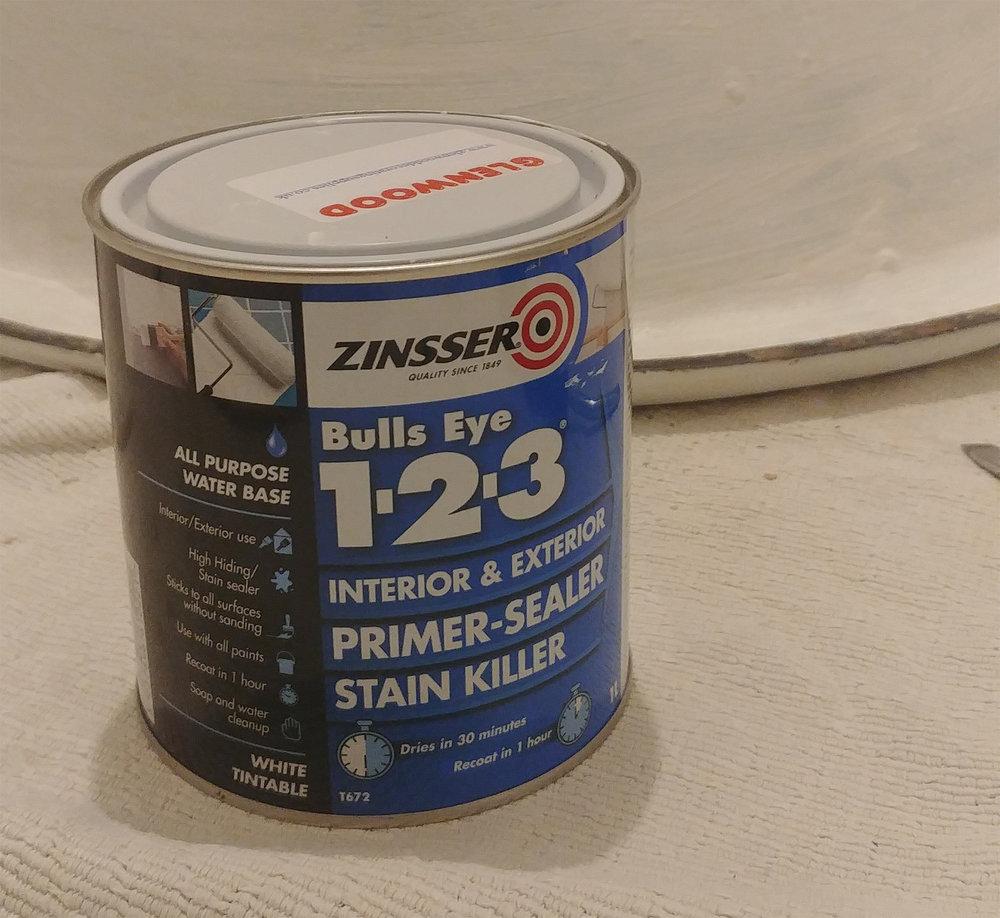 Zinsser Bullseye 1-2-3 primer.