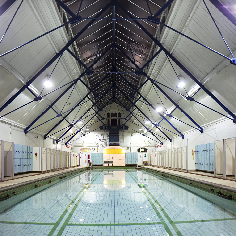 The 100 year old pool at Withington Baths