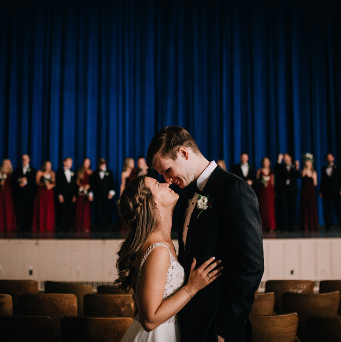 megan + Andy - September | Gym Wedding
