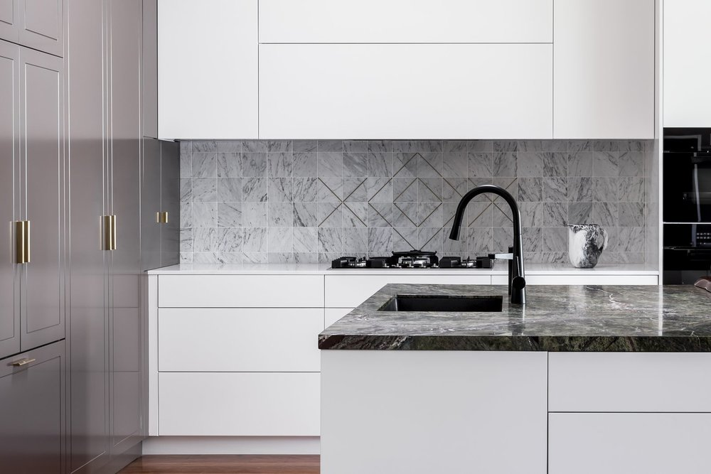 "This ""Drummoyne kitchen"" was designed by Laura Poilly for Blue Tea Kitchens.  Courtesy of Pablo Viega"