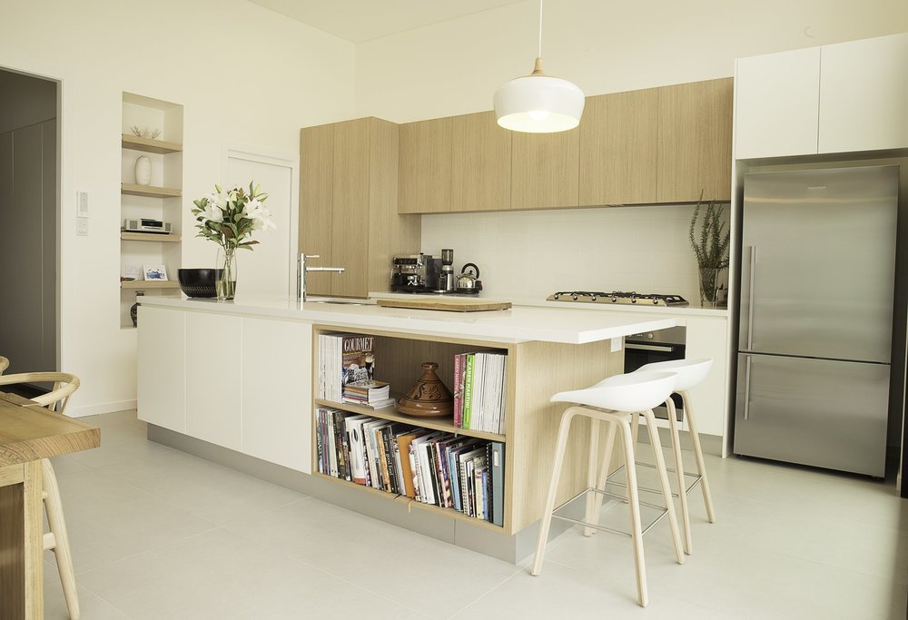 "This ""Coogee kitchen"" was designed by Nadia Hursky for Blue Tea Kitchens.  Courtesy of Pablo Hiriyogen"