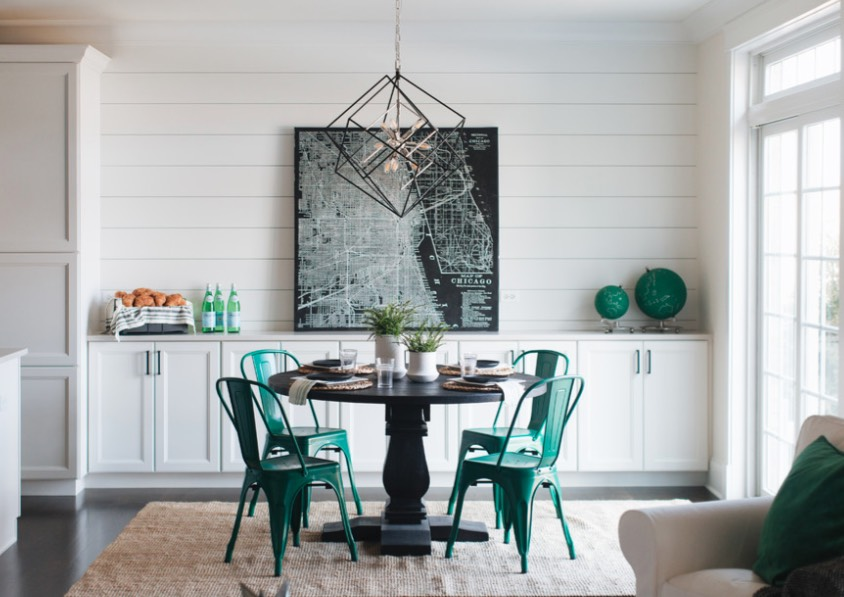 If you rent and can't paint a wall in a saturated tone like Night Watch, you can add  furniture and  accessories in the Color of the Year. The vivid green looks great in a white or neutral room. Image: Timber Trails
