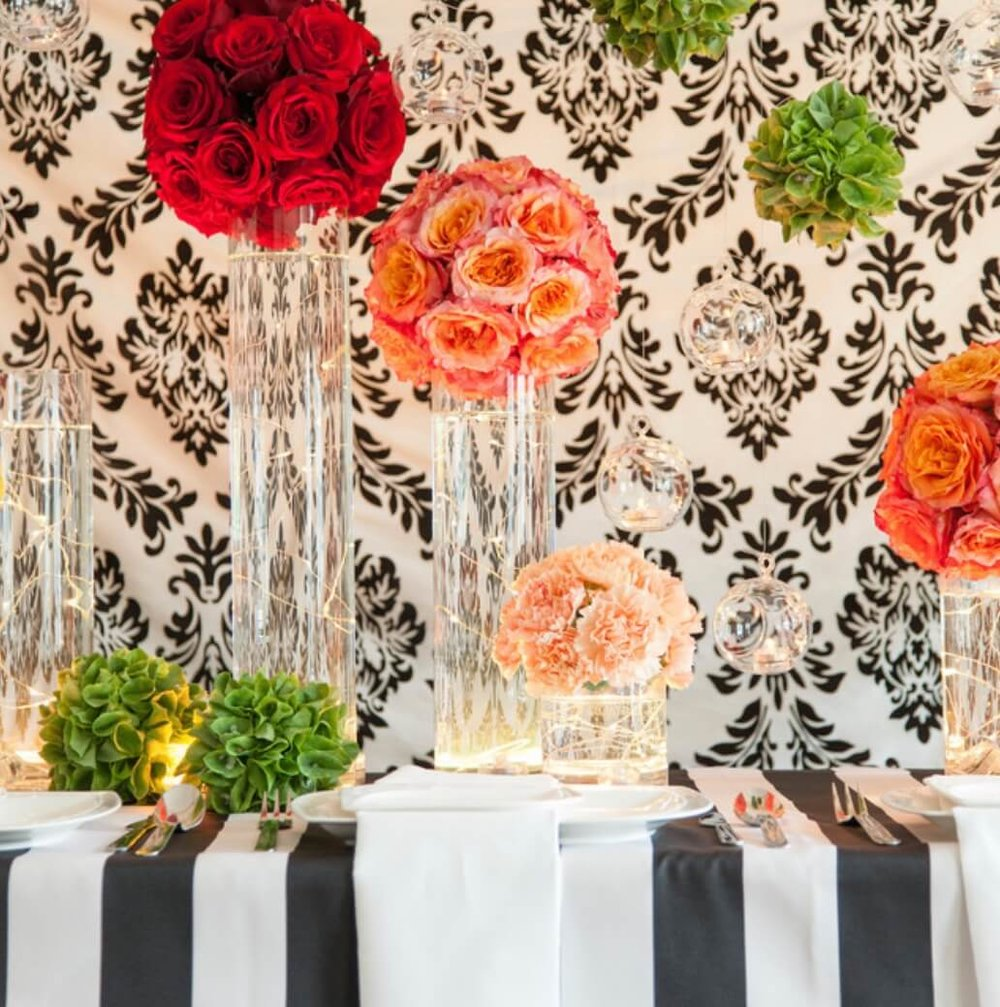 Don't feel limited to string lights as wall or ceiling accents; string lights work in table centerpieces, too. Image: Lights.com