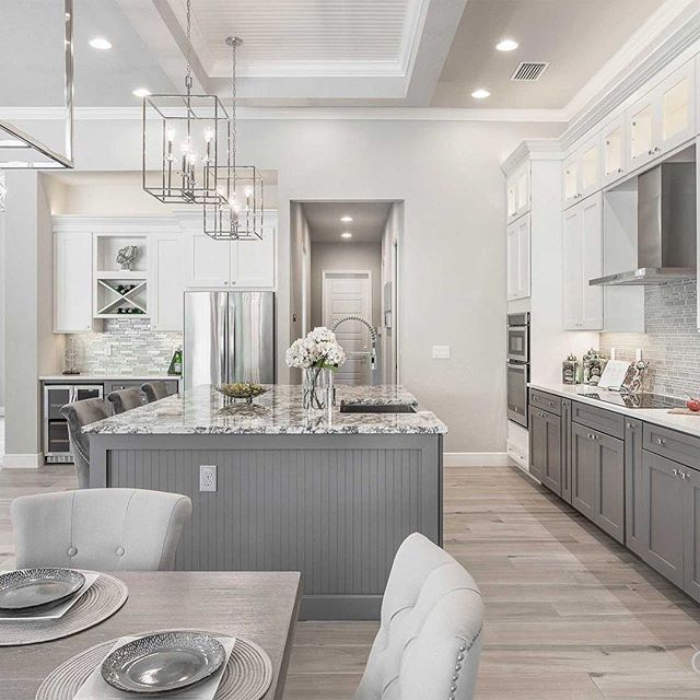 "New ""Haus Talk"" up on the website! 2018 Lighting Trends - posted by @cabinetsdotcom. Lighting is one of the most important elements in kitchen design, click the link in our bio to read the trends! #Springhaus #EverythingAmazing #SpringhausLighting"