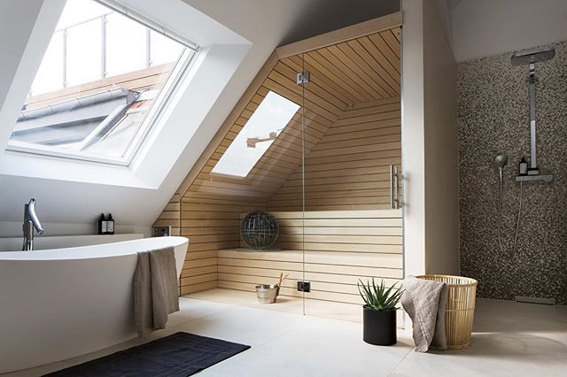 "Need some bathroom inspo? We've got it on our latest ""Haus Talk"" on our website. Click the link in our bio to see these spa-like bathrooms - posted by @dwellmagazine #Springhaus #EverythingAmazing #Bathroom"