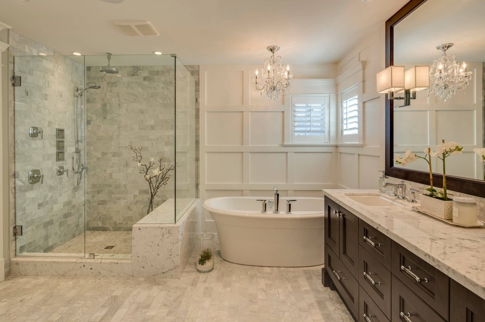 A master bathroom is a major selling point. Image: Clay Construction