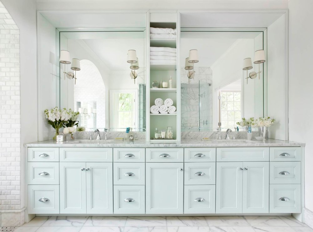 Bathroom storage is worth its weight in gold. Image: Mark Williams Design Associates
