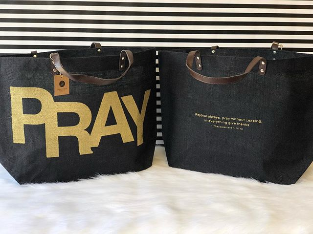 •New Inventory•  Ladies these are a must!! Finally a bag that's big enough to fit all your belongings! Not only that but each bag has a lovely message to keep you encouraged all day long!