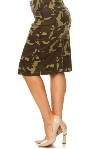 a28f95d467 Camouflage skirt — El Camino Christian Book store
