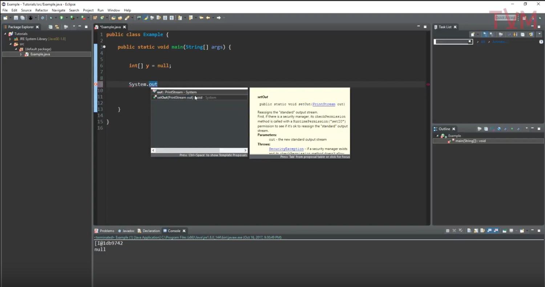 Java Tutorial - Null (COMP 202)