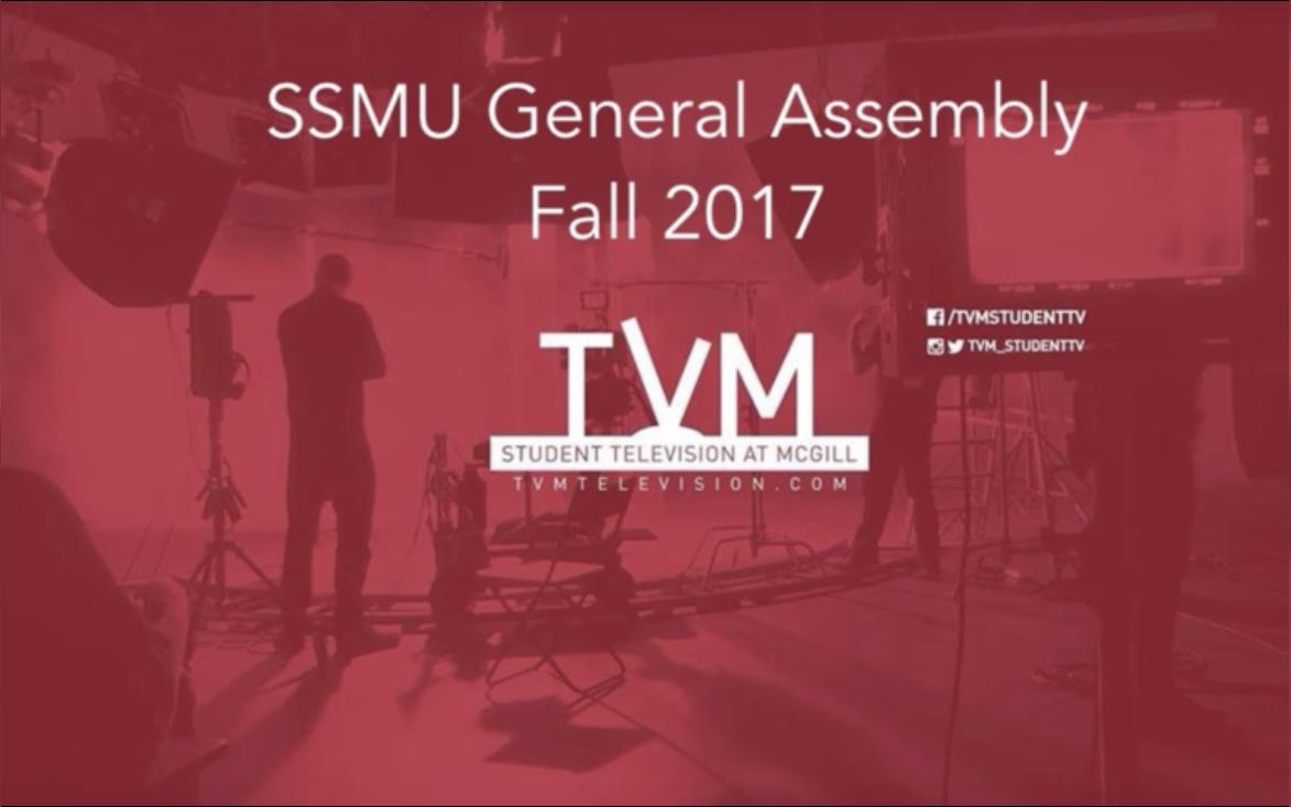 SSMU General Assembly – Fall 2017