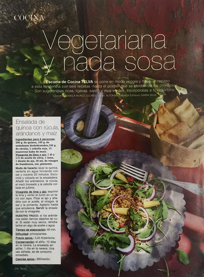 Revista TELVA FOODIES Interior