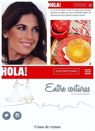 Blog HOLA! - Entre Costuras de Lourdes Montes