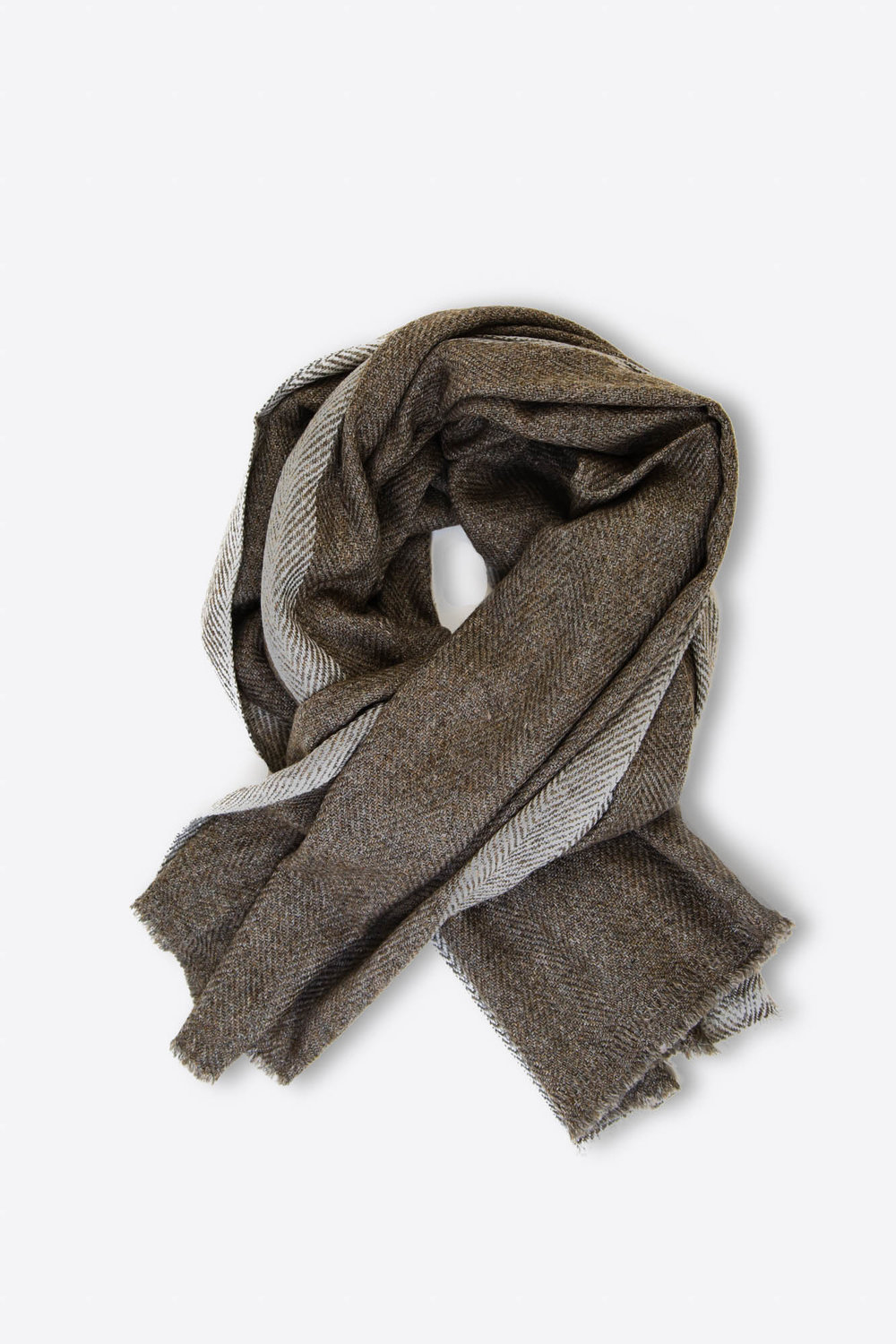 Mis Balinesas Brown and Grey Scarf