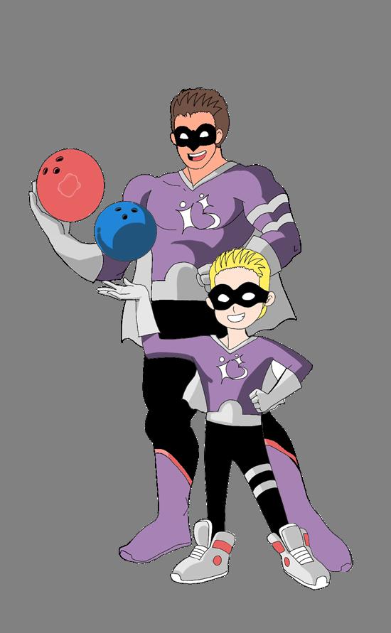 BBBSN Cartoon Super Hero Bowling