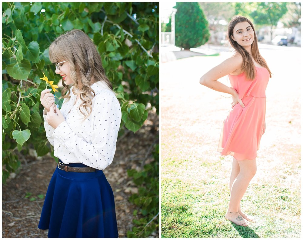 Summer senior portraits. The trees were so green and wild sunflowers were blooming.