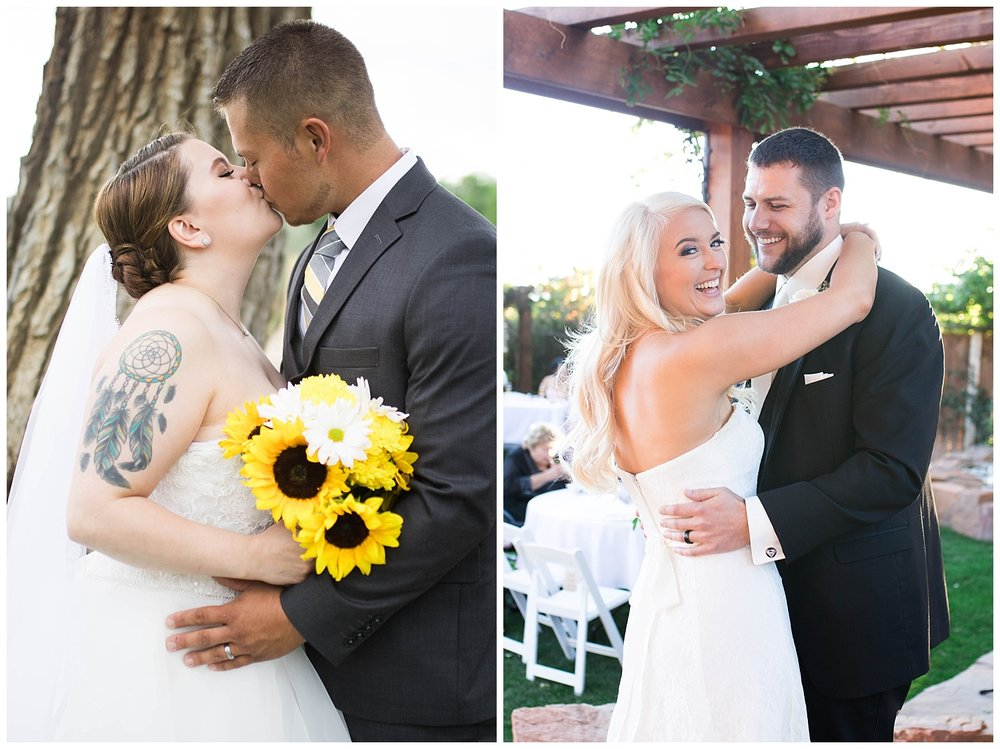 Koinonia Gardens in Albuquerque, Sandia Lakes in Albuquerque, Sunflowers, Bridal Portraits, First dance.