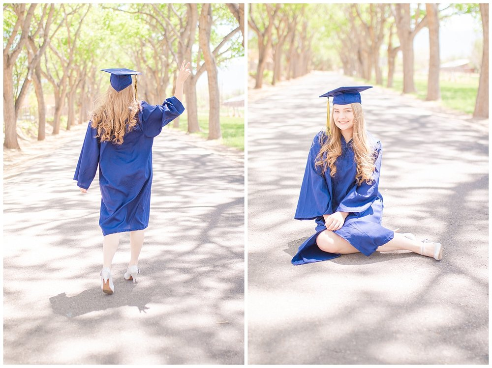 Homeschooled cap and gown shoot, Corrales  New Mexico, Senior, Peace out high school.