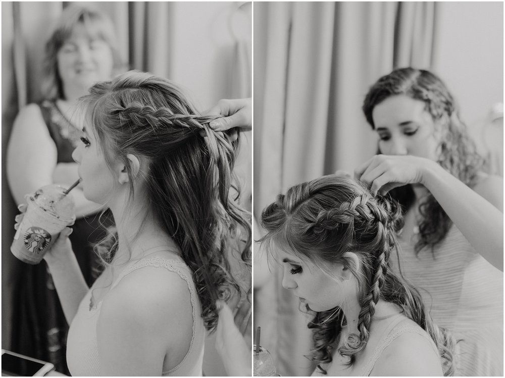 The beautiful braided hairstyle that Elena went with was a perfect complement to her and the dress.