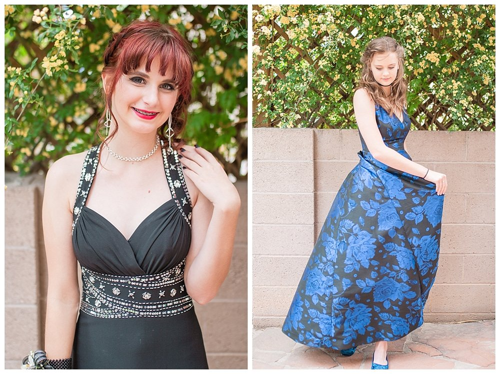 These two beautiful girls had the most amazing dresses. The black and blue were such bold colors that they stood out and stole the show no matter where they went.