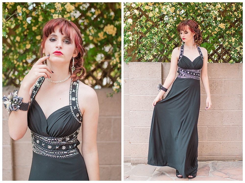 It helps being a trained model when you take photos in such a glam dress. She definitely stole the show at her prom.