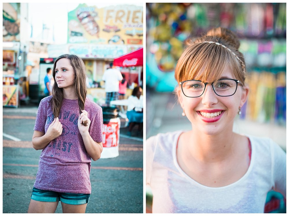 Blue, purple, green, fried food, coke-a-cola, are the most amazing things about the fair.