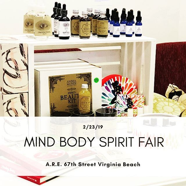 Hey VB locals! I'll be at the Mind Body Spirit Fair @edgarcayceare on 2/23. This is a great chance to check out the holistic wellness and beauty products I use both personally and in the salon. Expect some discounts as we clear out last year's inventory to make room for new products!Go clean in 2019 ✌🏼