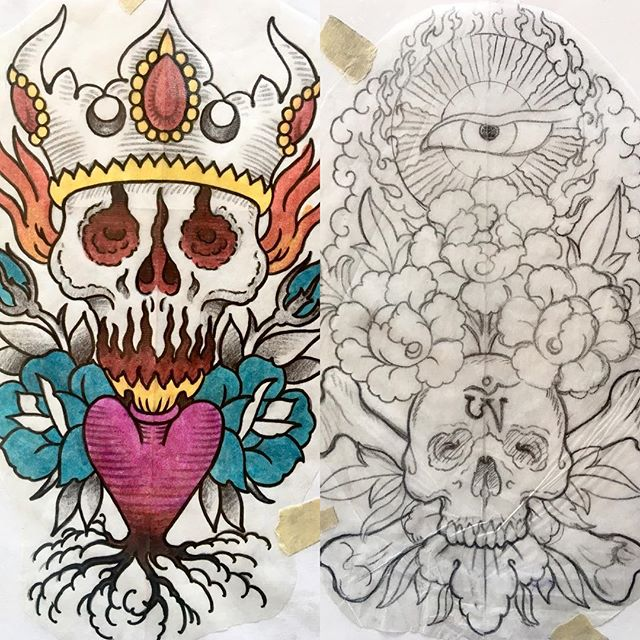 Still some spots available and plenty of designs for when @phillbartell is in town Oct. 7th-19th!! Call the shop stop by to snag them before it's too late!! #risingtidetattoo #bouldertattoo #303 #coloradotattoo #walkinswelcome #walkintattoo #americantraditional #traditionaltattoo #boldwillhold #japanesetattoo