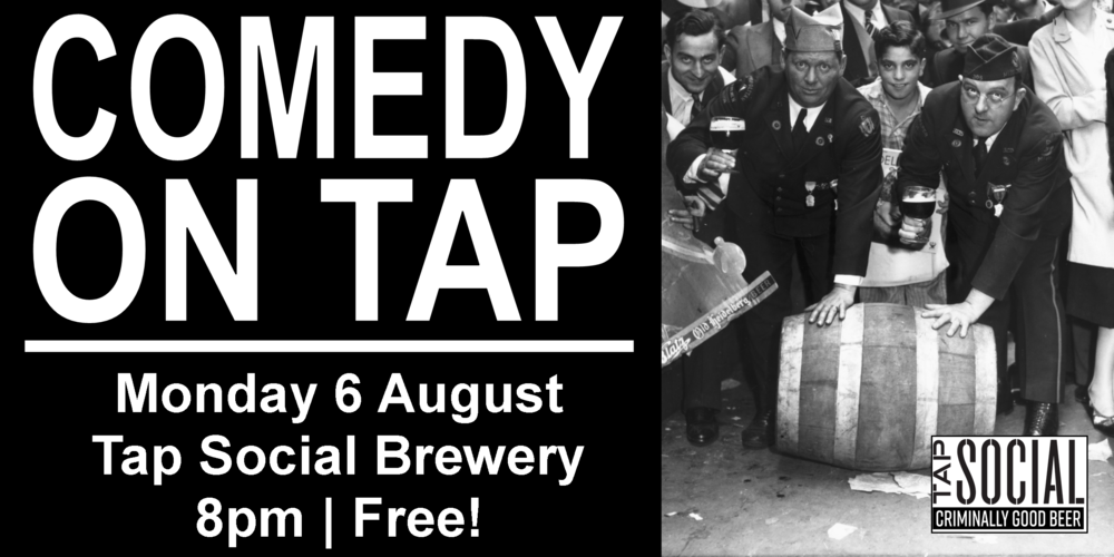 Comedy on Tap is a monthly stand-up show featuring some of the best comedians we could get to come to a brewery on a Monday night! Showcasing top local and national comedians, perfectly paired with  Tap Social Movement 's craft beer - and the best part is it's all free! (The comedy, not the beer.)  Headlined by amazing comedic talent from all over the UK Hosted by:  Sarah Mann   Feel free to message us with any questions. See you Monday!