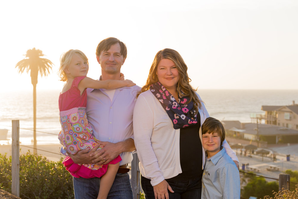 The Boerner Horvath Family (left to right): Maya Kate, Istvan, Tasha and Máté.