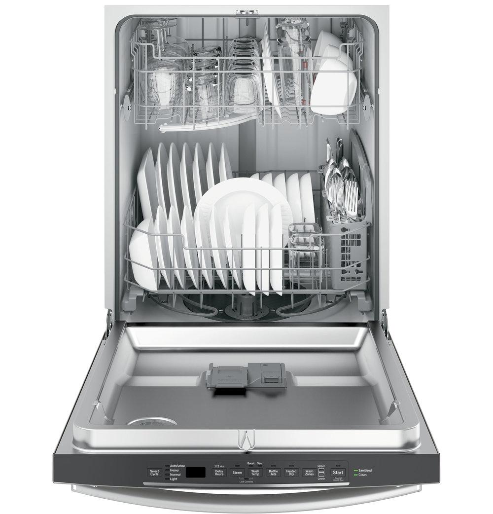 ge hybrid stainless steel interior dishwasher with hidden controls gdt635hgjww