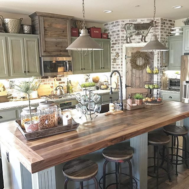 French Country Kitchen Green: 10 Features Of A Farmhouse Kitchen And 30+ Inspiring