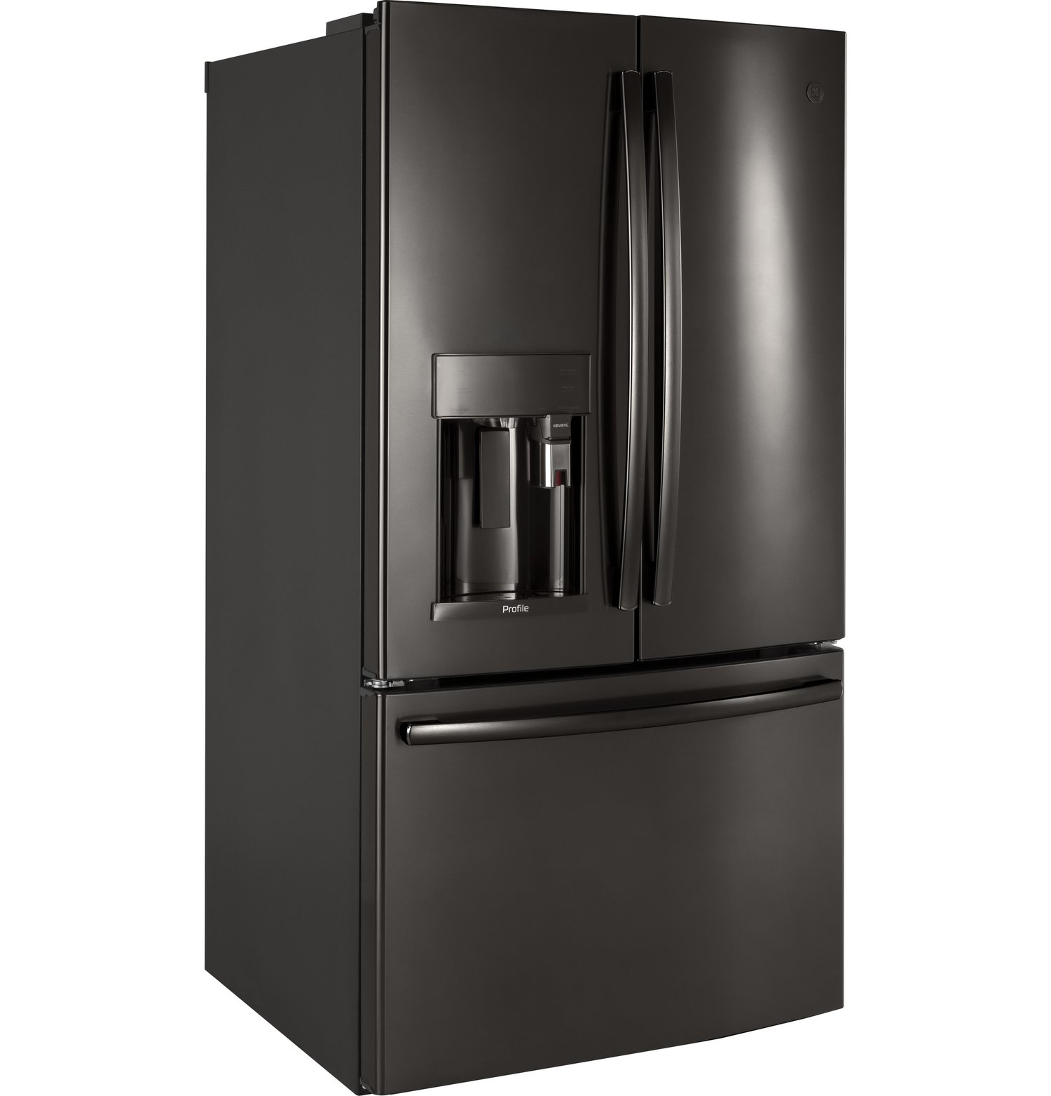 Pfe28pblts ge profile series energy star 278 cu ft french pfe28pblts ge profile series energy star 278 cu ft french door refrigerator with keurig k cup brewing system black stainless rubansaba