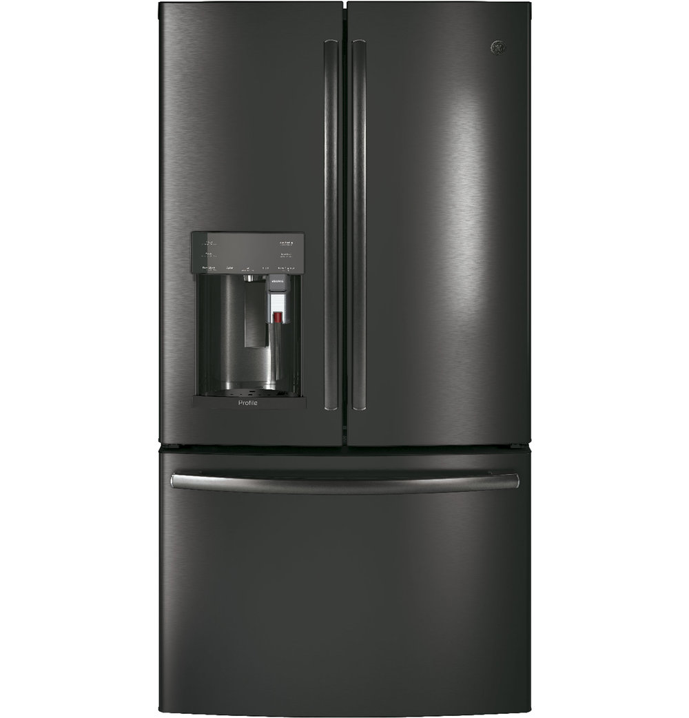 PFE28PBLTS | GE Profile™ Series   ENERGY STAR® 27.8 Cu. Ft. French Door  Refrigerator With Keurig® K Cup® Brewing System (Black Stainless)