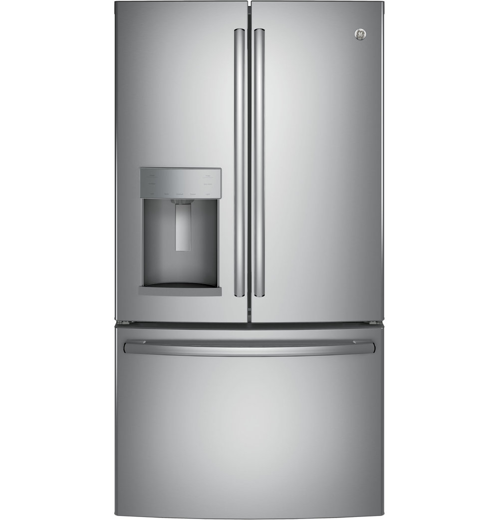 Etonnant GYE22HSKSS | GE®   ENERGY STAR® 22.2 Cu. Ft. Counter Depth French Door  Refrigerator (Stainless)
