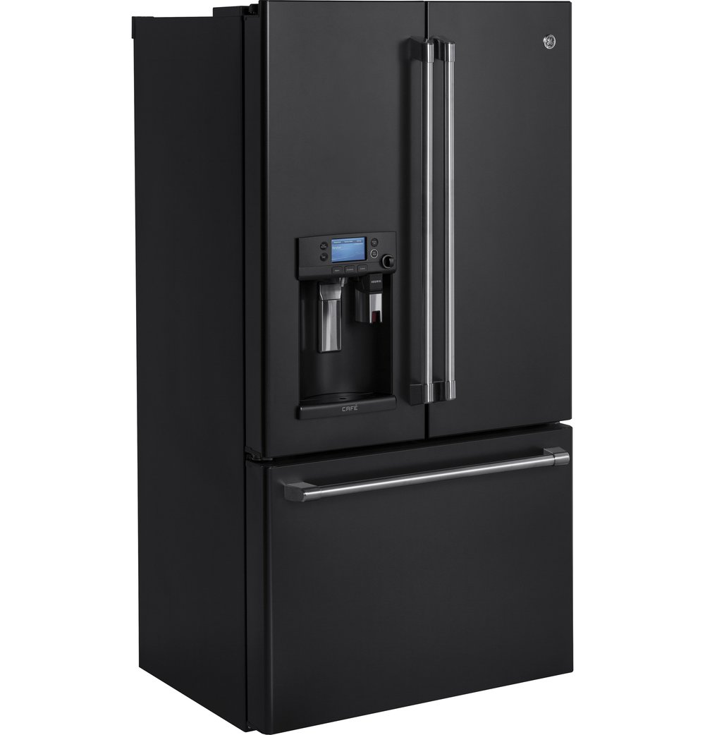 CYE22UELDS | GE Café™ Series   ENERGY STAR® 22.2 Cu. Ft. Counter Depth  French Door Refrigerator With Keurig® K Cup® Brewing System (Black Slate)