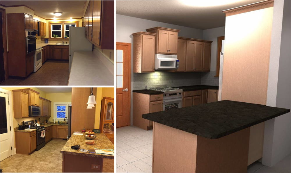 Start your own before and after story - Get a free 360° design, then transform your kitchen