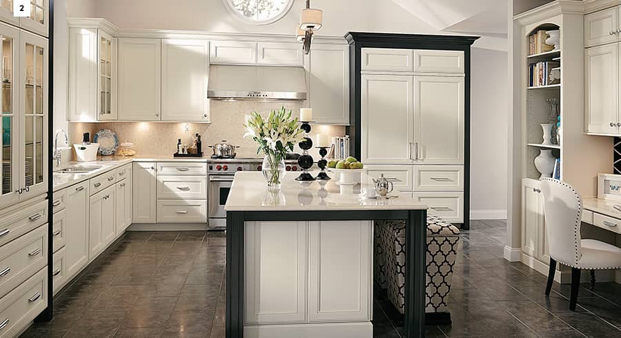 """""""We just had the kitchen of my dreams completed. It is even better than I could have ever expected! It was not bargain priced, but I feel it was fair for the excellent quality that we received. I would highly recommend KraftMaid cabinets to anyone. I had them put into my last kitchen (about 16 years ago) and they have held up beautifully!""""From Sherry in September of 2017."""