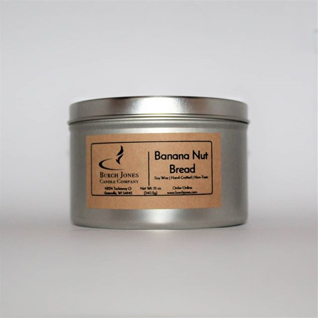 Do you love the aroma of freshly baked banana nut bread? If you do, you'll love our new fall fragrance Banana Nut Bread. #soycandles #burchjones
