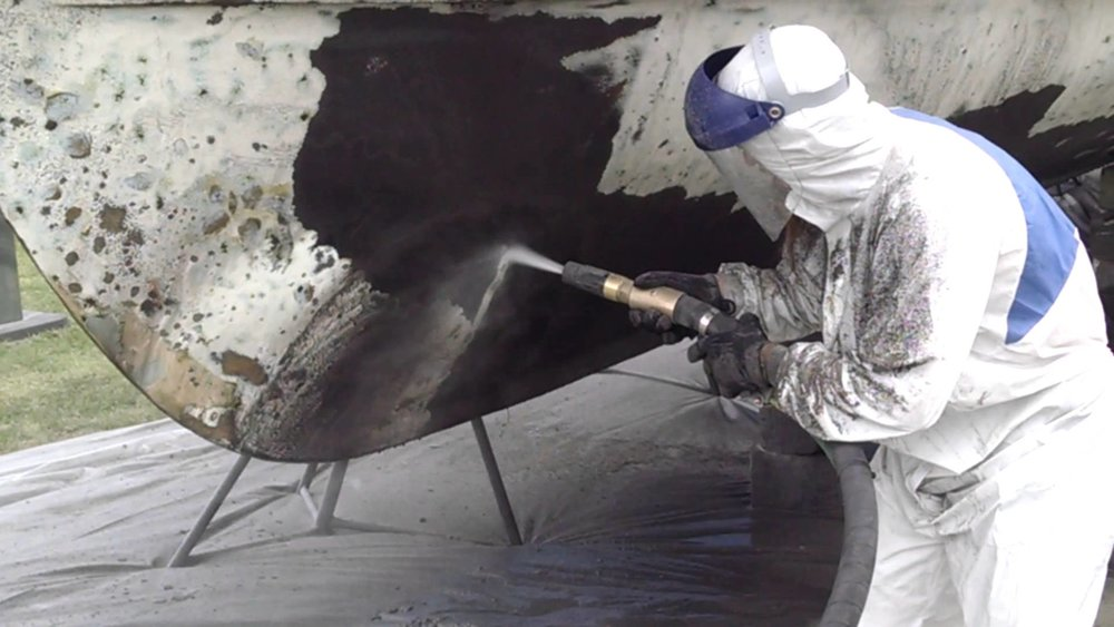 marine - Sandblasting and Dustless Blasting - Removal of anti fouling coatings
